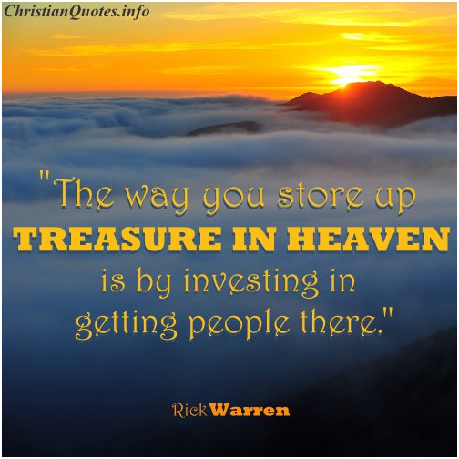 "Could My ""Treasures in Heaven"" Yield a Little Interest Down Here?"