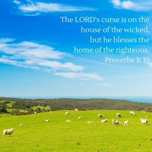 The LORD's curse is on the house of the wicked, but he blesses the home of the righteous. Proverbs 3-33